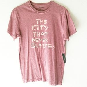 Mens Express heathered rose/pale red tshirt